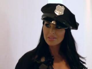 惊人的女警Holly Halston性交