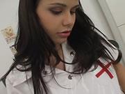 西班牙可愛護士在家