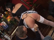 Hot Waitress Gets Double Pentartion Action At Work