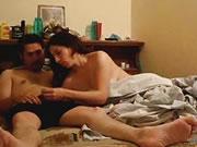 Pareja Amatuer de cachonda Irani follando muy apenas en el dormitorio