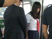 Student Girl In Train