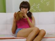 苗條身材的俄羅斯少女