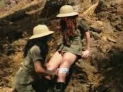 兩個考古女同係非洲野戰
