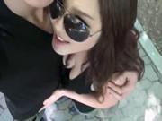 Menina coreana porra no banheiro público