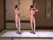 Cartoon Twins Nude Dance