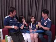 Coppa del mondo 2018, Giappone squadra tifosi festeggiare la prima vittoria 4P
